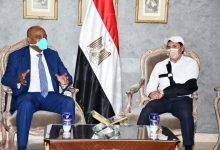 Photo of وزير الشباب يستقبل رئيس الكاف بمنزله عقب وصوله القاهرة