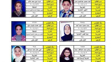 Photo of عاجل ننشر أوائل الشهادة الإعدادية على مستوي المحافظة 55 طالب..وعلى أى أساس تم الترتيب
