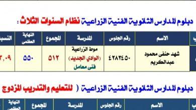 """Photo of بنت الداخلة """"شهد حنفي """" الأولي على مستوى الجمهورية فى دبلوم الثانوي الزراعي"""