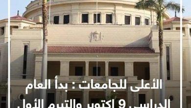 Photo of الأعلى للجامعات: بدء العام الدراسى 9 أكتوبر والتيرم الأول 14 أسبوعا