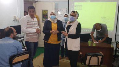 Photo of مجدي تتفقد البرنامج التدريبي لمهندسي وحدة المتغيرات المكانية