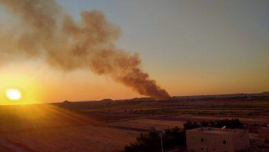 Photo of عاجل بالصور والفيديو حريق ضخم بقرية العوينة فى الداخلة