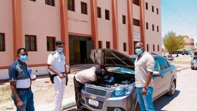 Photo of بالصور قافلة مرورية بمدينة بلاط تخفيفا علي المواطنين
